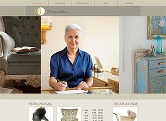 Antiquário Template - Este template elegante permite aos visitantes visualizar os produtos da sua loja com facilidade. Apresente seus produtos usando imagens e adicionando descrições de texto. Simples de personalizar e atualizar, este tempalte gratuito permite destacar novos produtos assim que eles chegam em sua loja virtual!