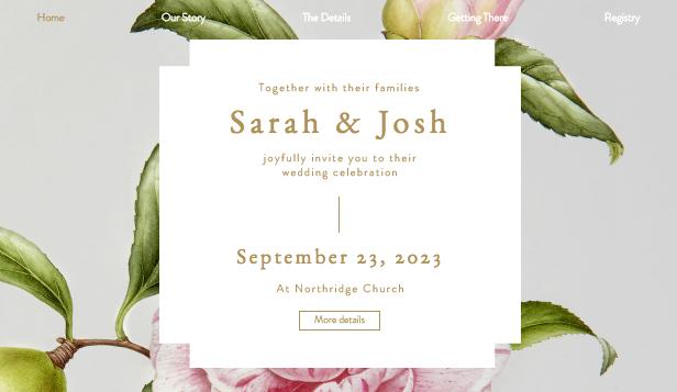 Romantické pozvání na svatbu