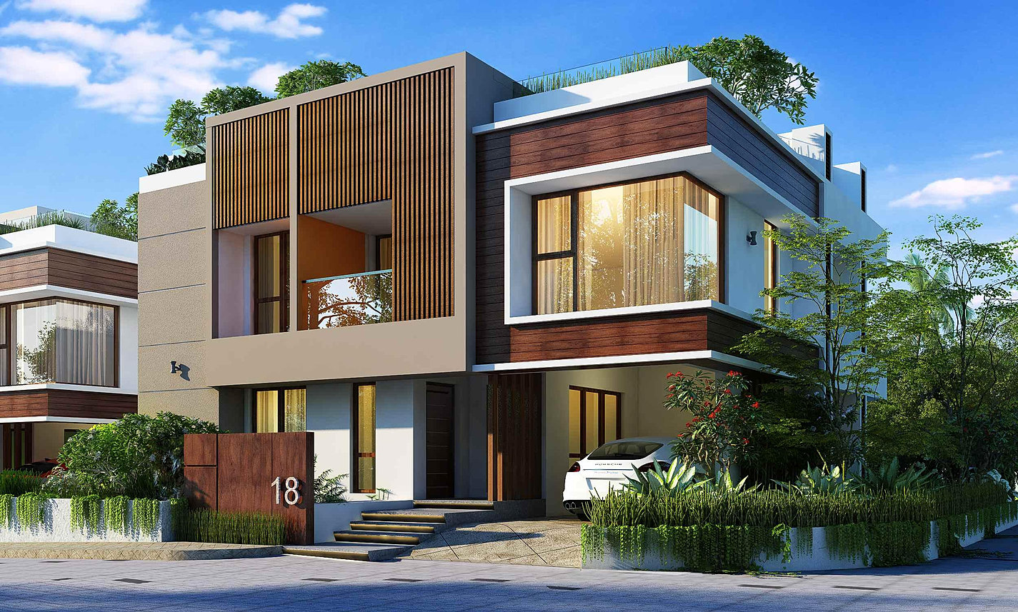 Apartments flats villas in trivandrum villa and flats for Villas apartments