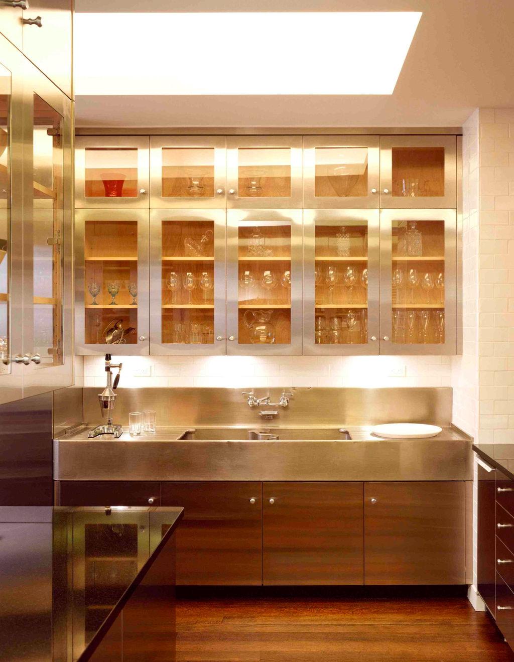 Cabinet Door And White Countertop In Dwyer Kitchen