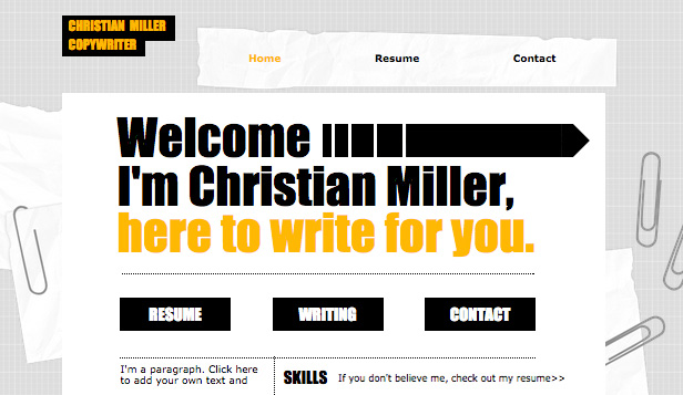 Cv copywriter