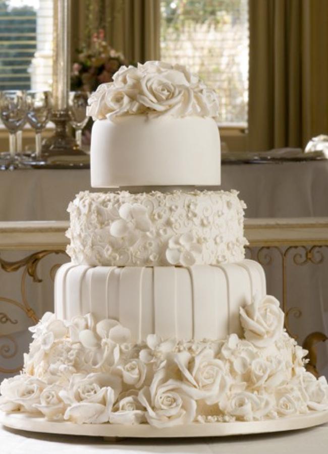Белые свадебные торты фото
