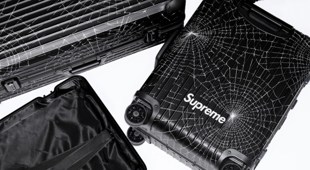 Supreme and Rimowa deliver second luggage collection featuring the revered box logo print