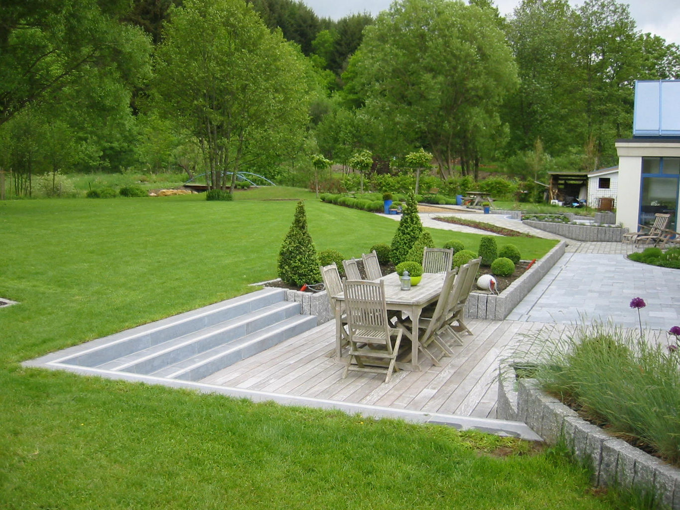 All garden concept eppe xavier - Photo de terrasse moderne ...