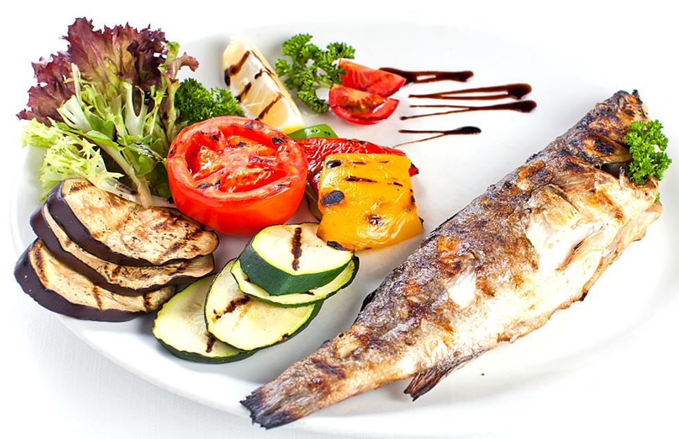Блюдо язык рыбы и