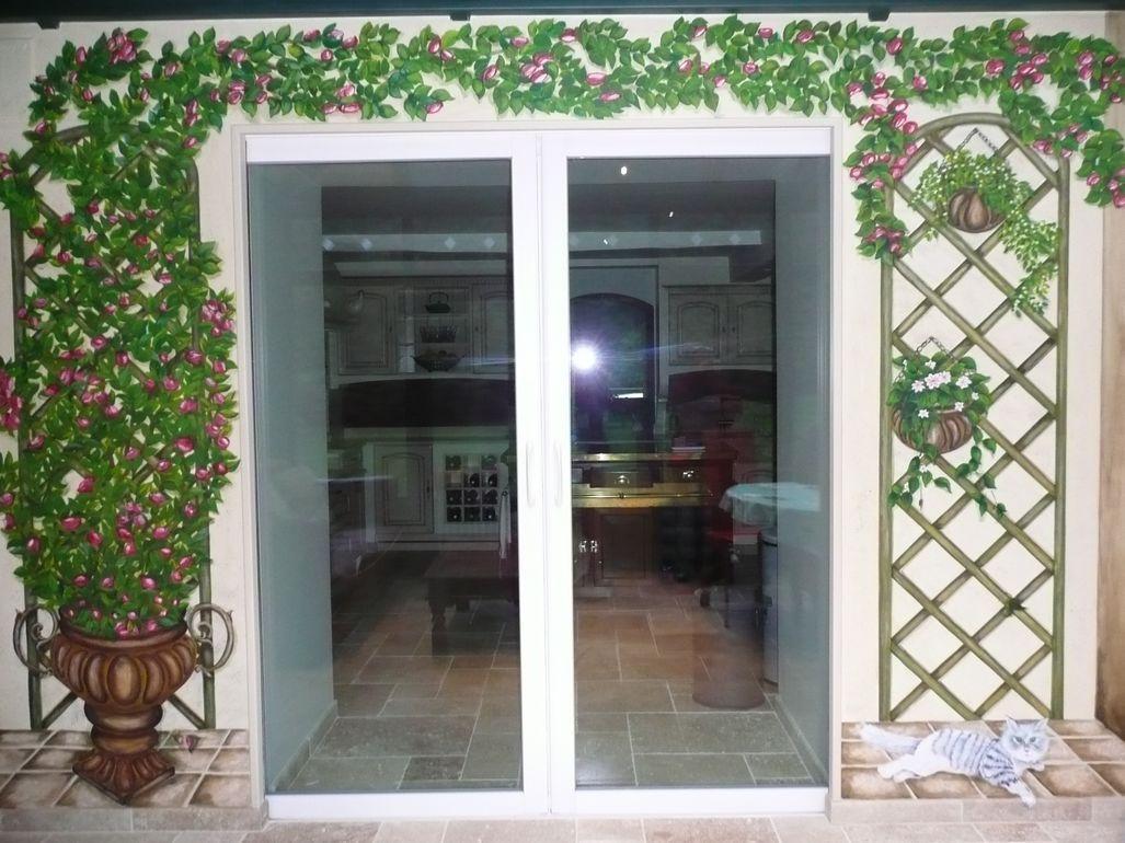 Muriel diebold peintre decorateur enseigne fresque panoramique modelage decor restauration - Deco trompe l oeil muurschildering ...