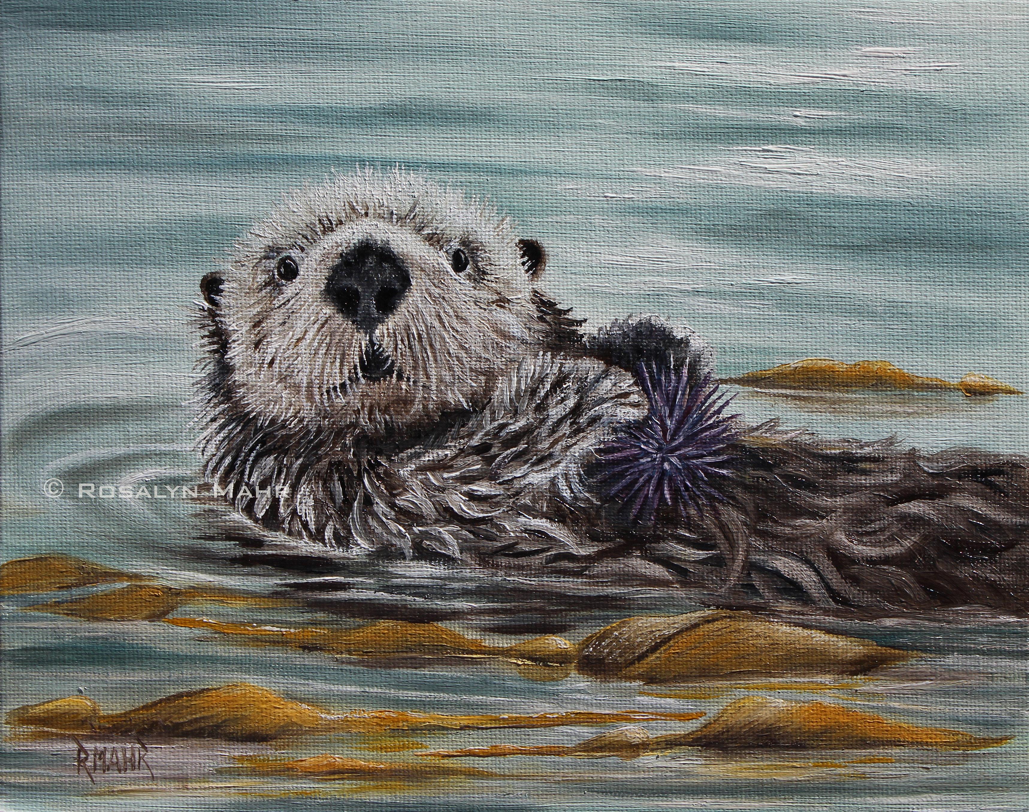 Artbyrosalynmahr Sea Otter
