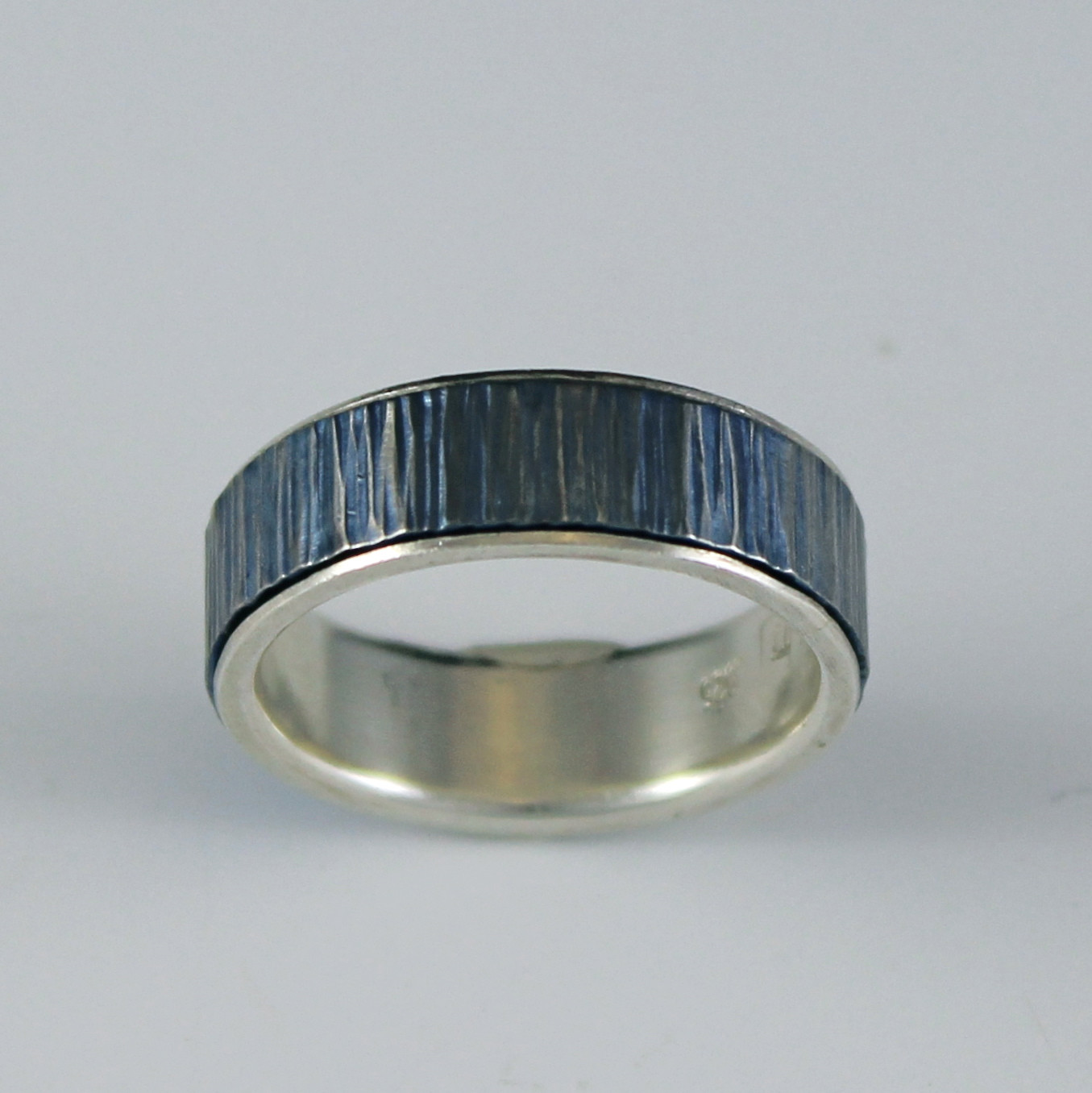 thread noir platinum silver ring x item diamond mcclelland patina mcteigue