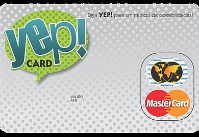 CARTÃO DE PREMIAÇÃO YEP CARD MASTERCARD