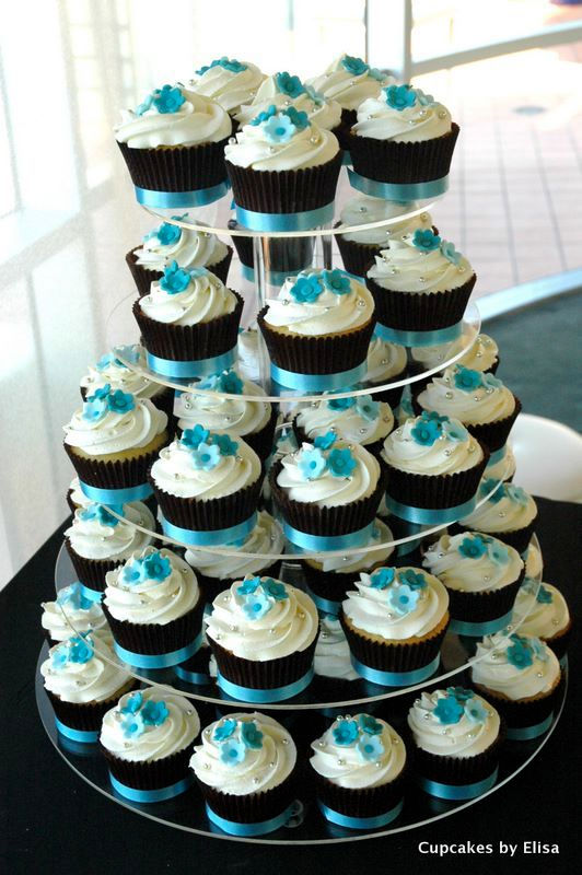 Turquoise Cupcake Wedding Cakes Cupcakes By Elisa Celebrate In Style Wix