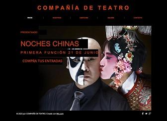 Teatro Template - Captura a la audiencia con esta dramática plantilla web. Es el lugar ideal para promover tus obras, presentar a tus actores y compartir las fotos de los espectáculos. Crea un atractivo sitio web para llevar a tu compañía de teatro online.