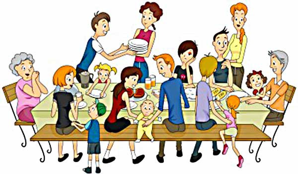 Image result for family bbq cartoon