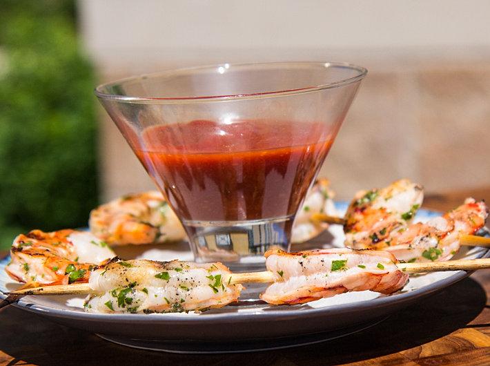 Flavor City | Grilled Shrimp Cocktail
