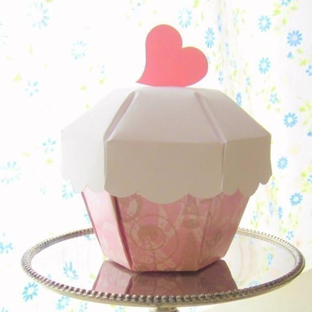 Коробочки в виде кекса своими руками