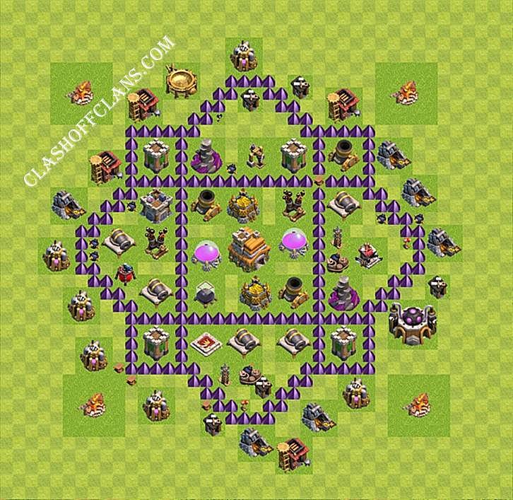 лучшая база для тх 7 clash of clans защита #8