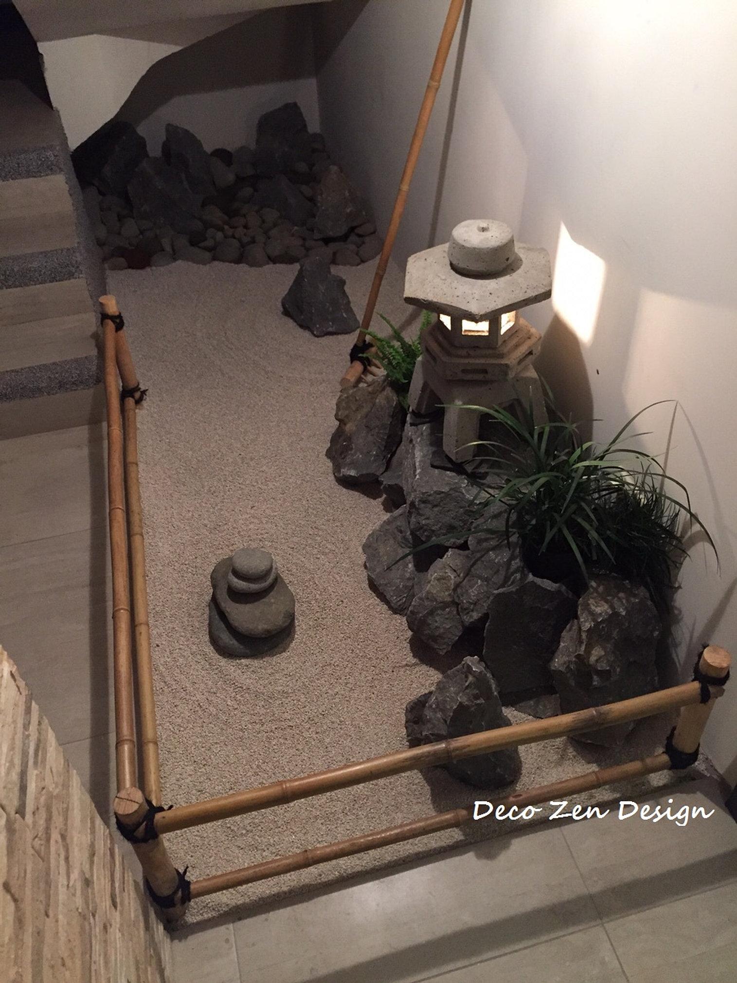 Dise o y construcci n de jardin zen y jardines japoneses for Jardin interior bajo escalera