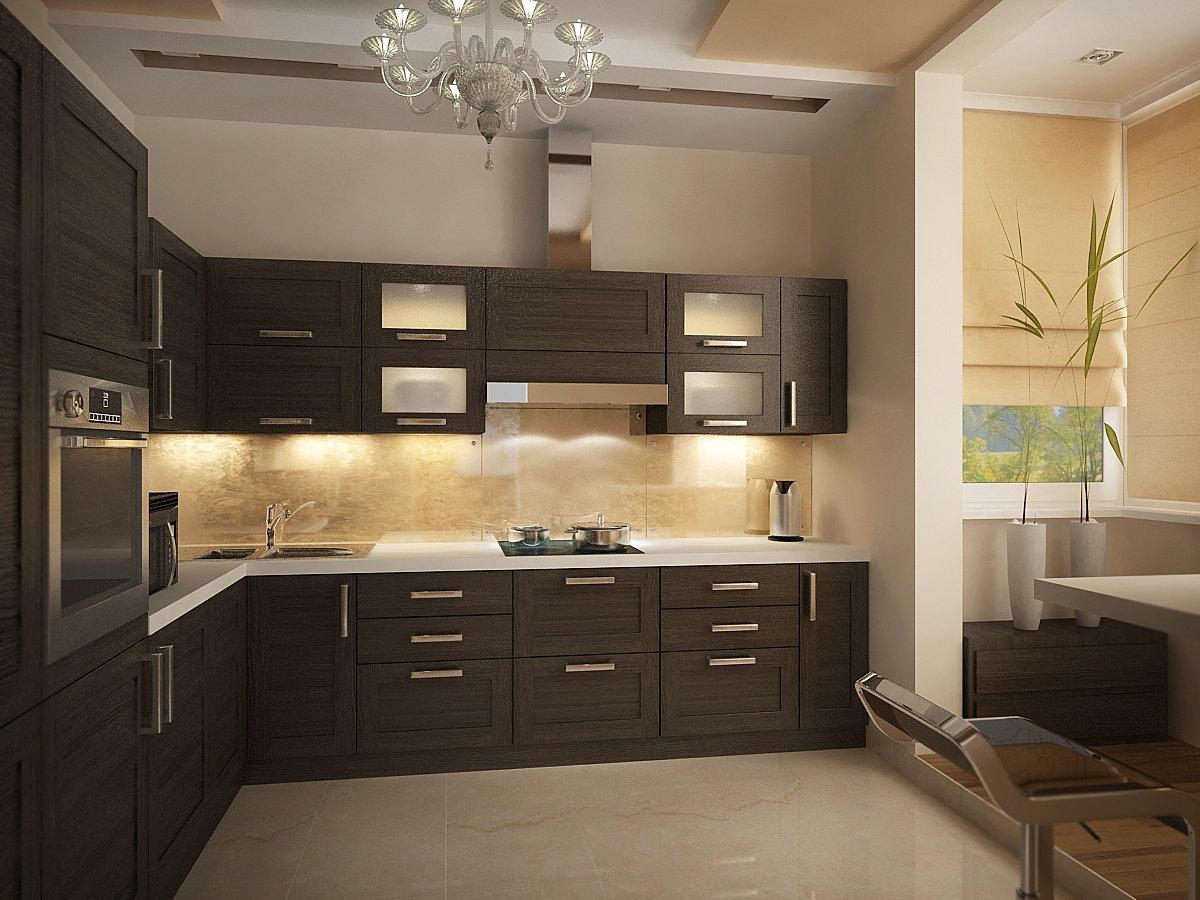 Угловые кухни с балконом фото