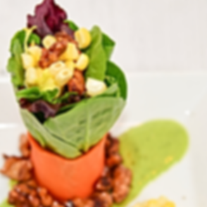 Carrot Wrapped Spinach Salad