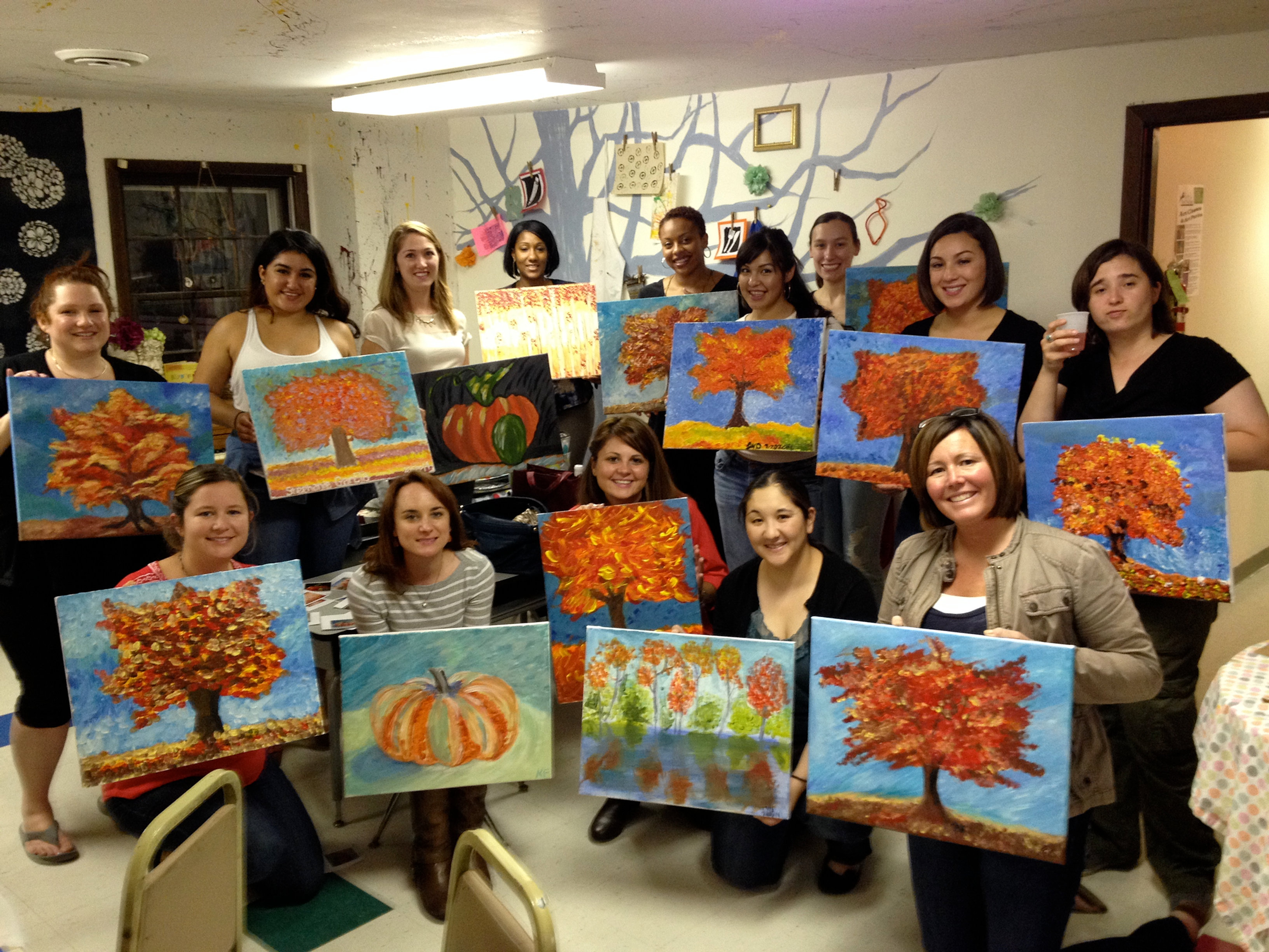leaping dog art studios painting party byob