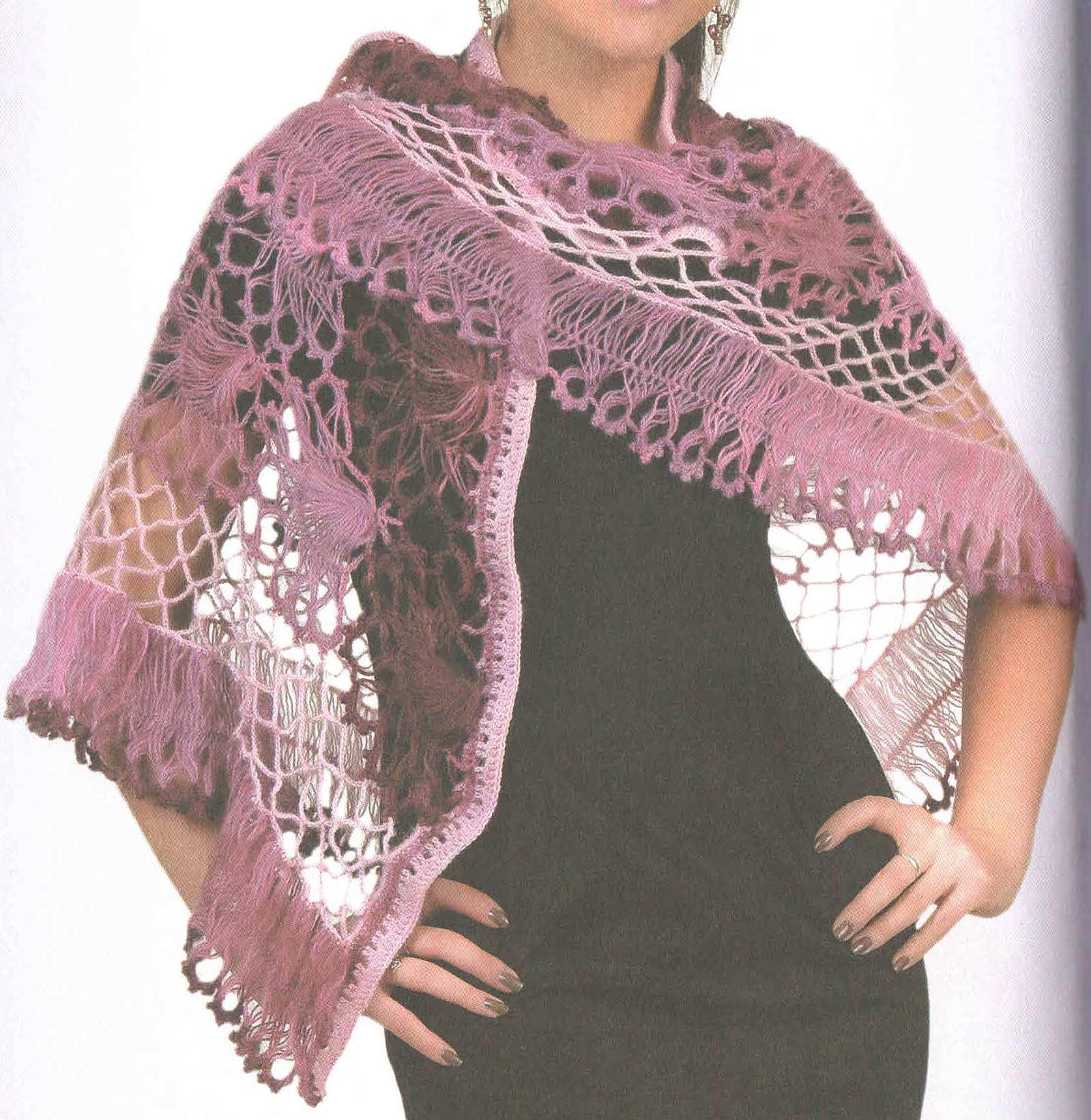Вязание на вилки платки