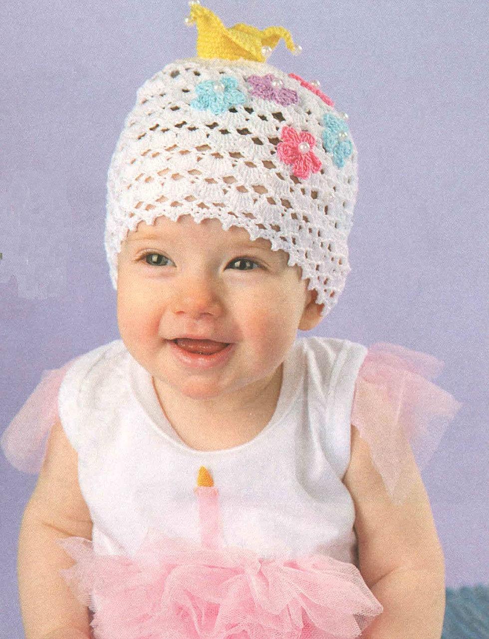 Вязание крючком детской шапки для девочек