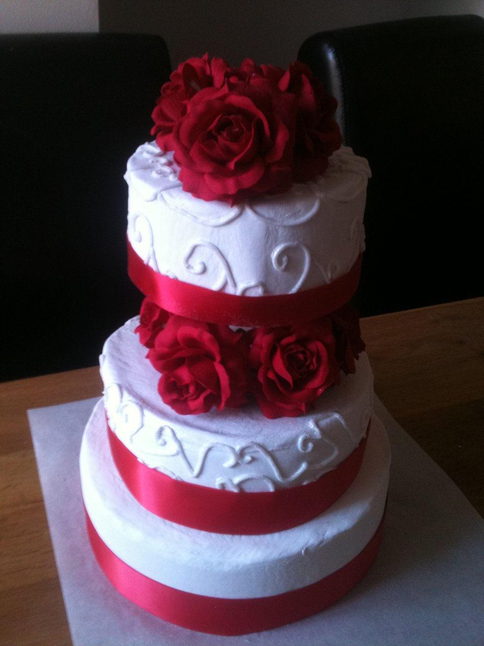 Gluten Free White Chocolate Wedding Cake Cardiff