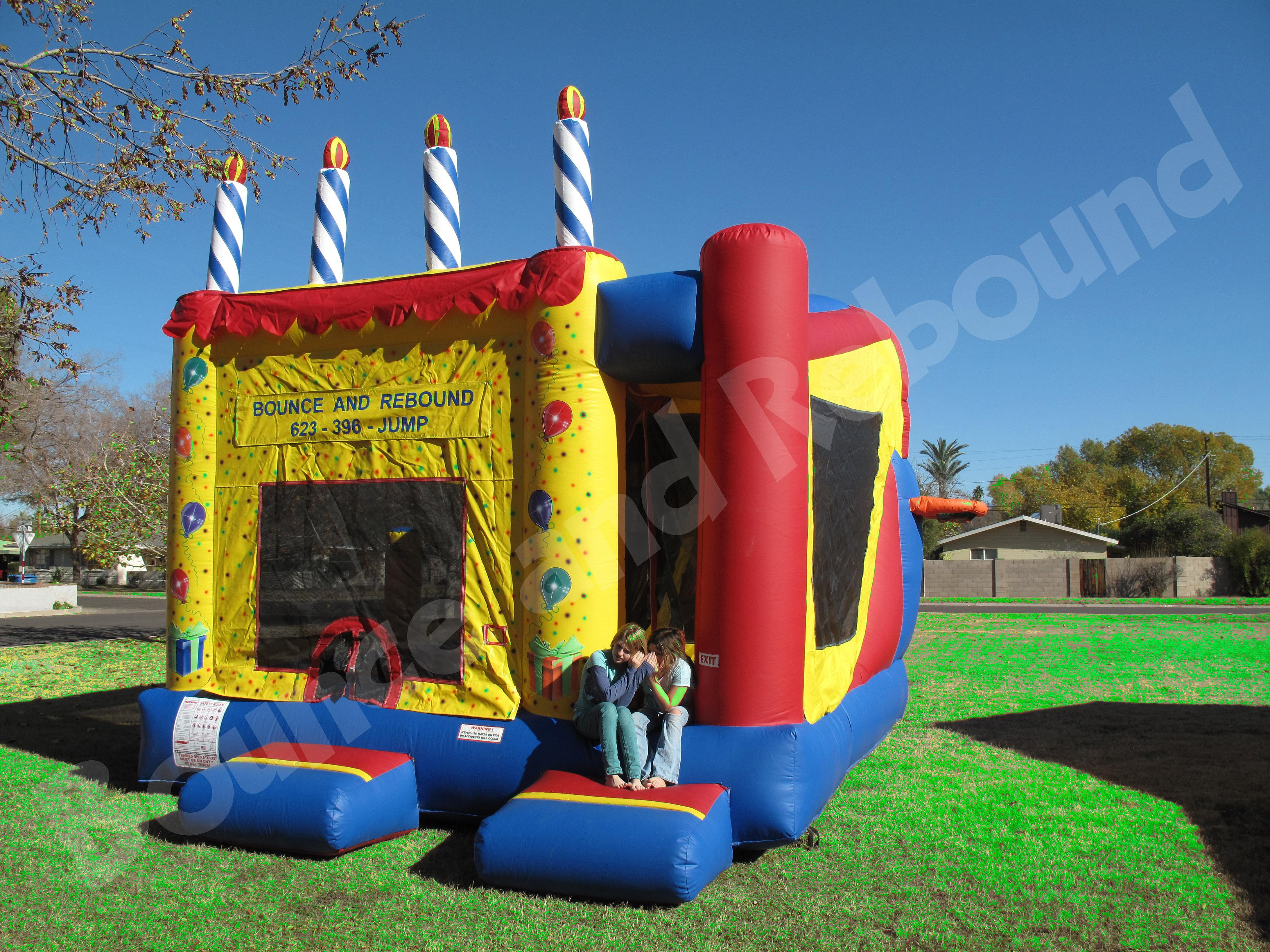 Rebound >> Bounce House Rentals AZ, Arizona Bounce Houses, Party Rentals Phoenix | Birthday Cake 5-in-1 ...