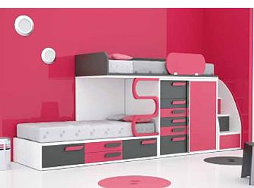 lits gain place offre lits superposes. Black Bedroom Furniture Sets. Home Design Ideas