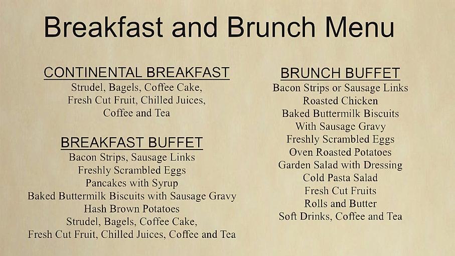 Crystal Gardens Wedding Banquet Hall Conference Southgate Mi Breakfast Brunch Menu