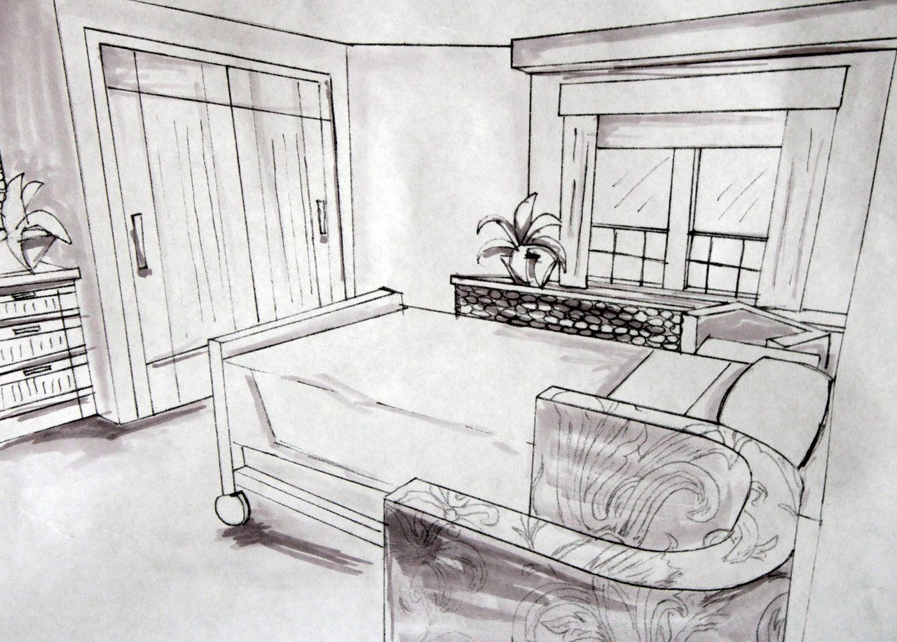 semi private room sketch