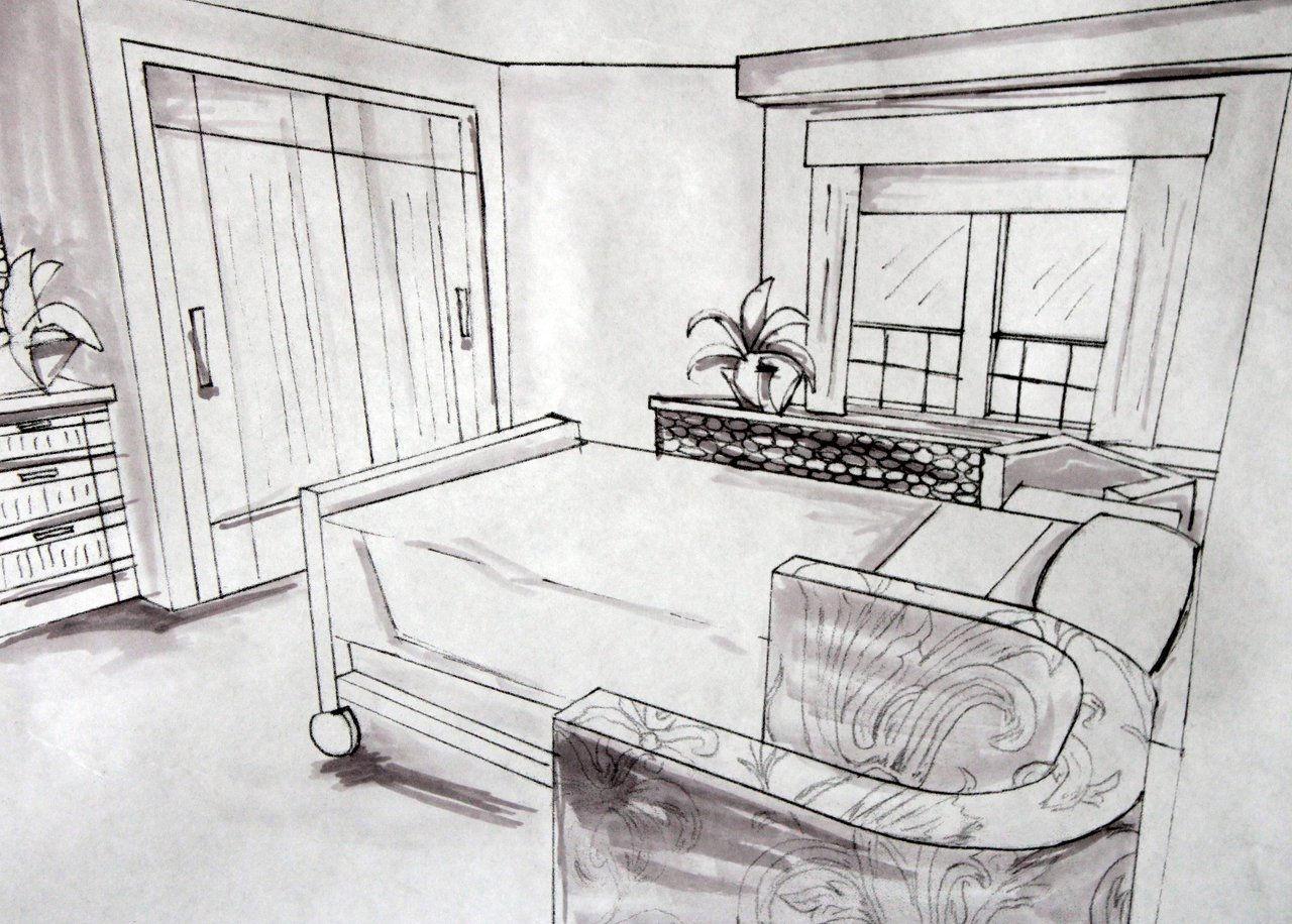 semi private room sketch
