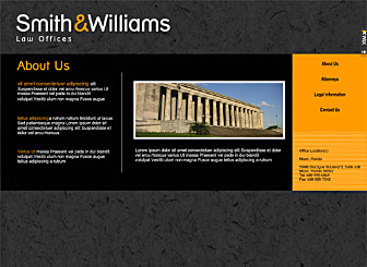 Law Offices Template - Use this as the basis for a fast and high-quality website. This website template is completely customizable and is just waiting for your information to promote you and your business on the web in a professional manner.