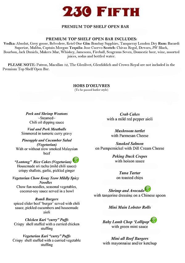 Outdoor rooftop bar club restaurant nyc new york 230 for Bar 88 food menu