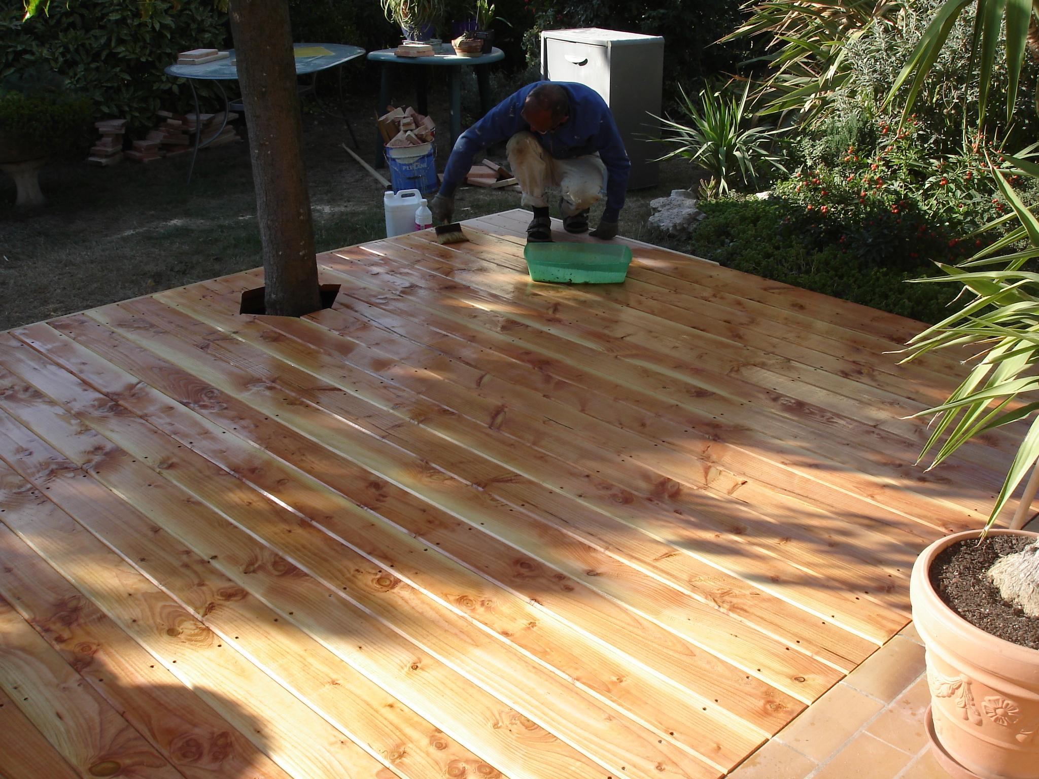 artisan poseur terrasses bois composite drome ardeche  terrasse bois douglas