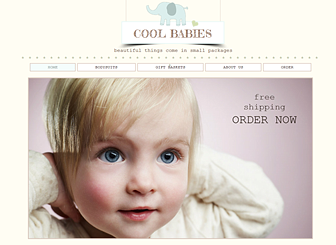 Baby Clothes Template - A sweet and simple template awaits your retail business. Upload images and add text to showcase your wares. Start editing to create an easy-to-navigate website that allows viewers to browse items in your store with ease.