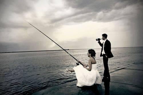 рыбак с невестой