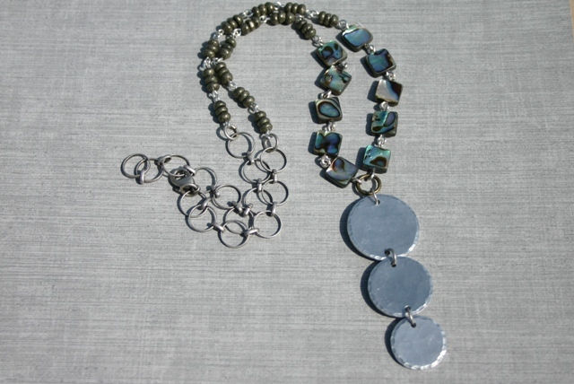 Hammered Aluminum Necklace