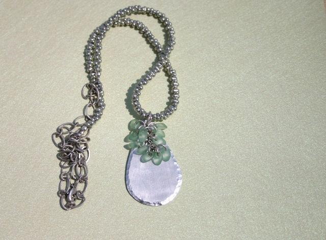 Brushed Aluminum Necklace