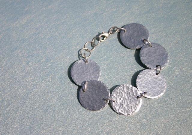 Hammered Aluminum Bracelet