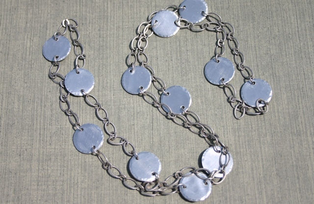 Bushed Aluminum Necklace