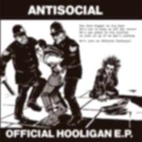 ANTISOCIAL Official Hooligan EP with a different cover artwork done by skinhead artist Ramon G.
