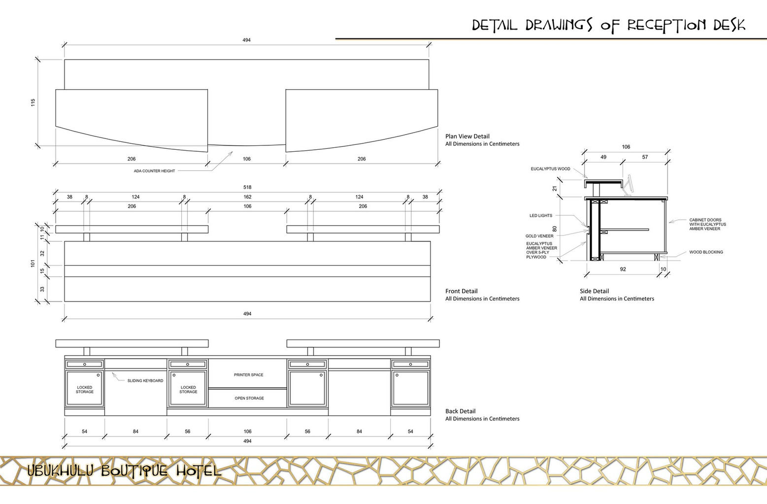 Reception Desk Section Detail Drawing Detail Drawings of Reception