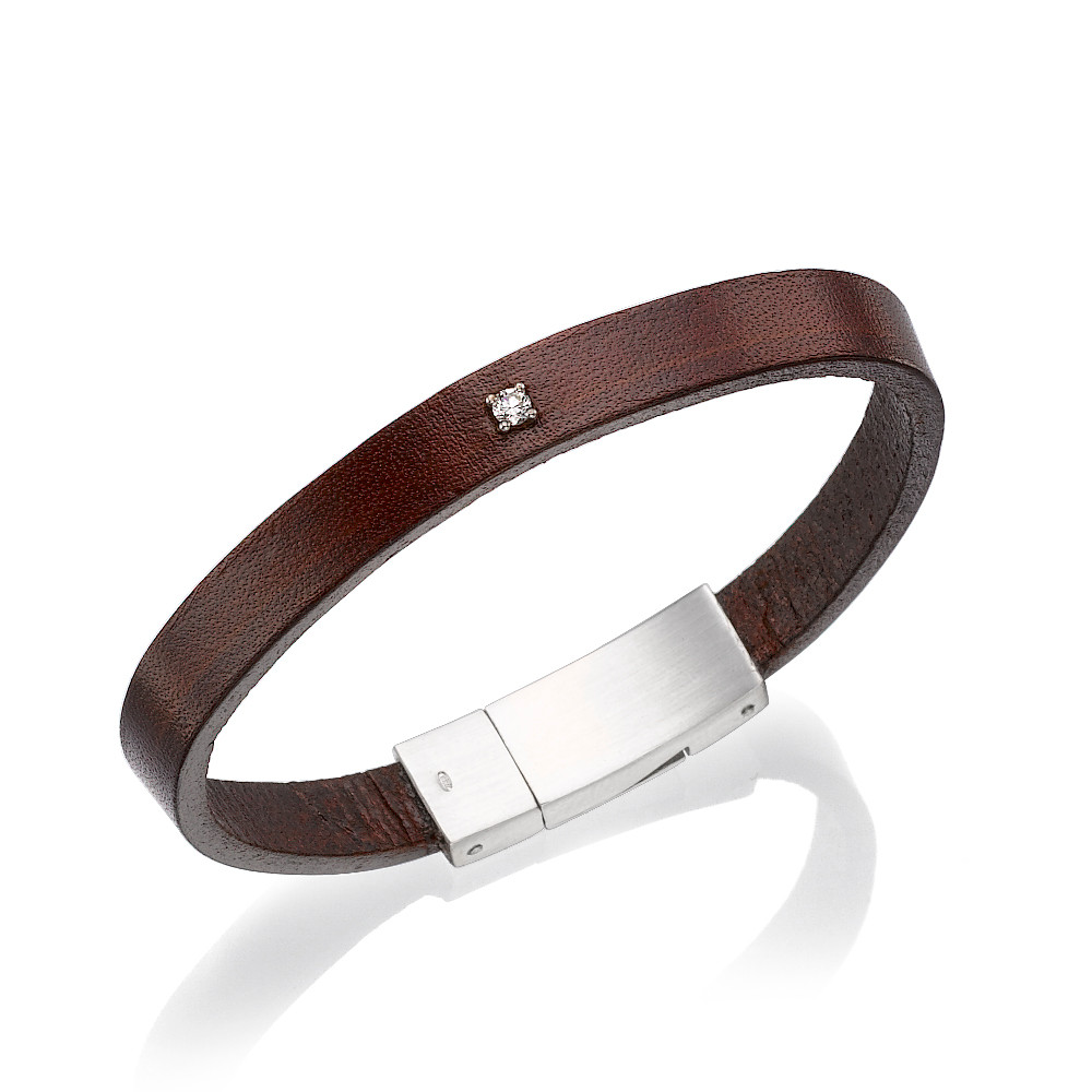 Leather diamonds rings and bracelets