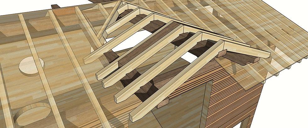 conception et r alisation de structures atypiques en bois conception c a o. Black Bedroom Furniture Sets. Home Design Ideas