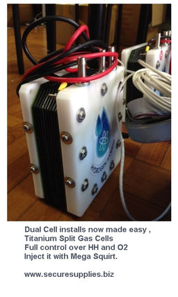 Secure Supplies Dry Cell Split Gas HHO Hydrogen Quantum 24 volt Marine Truck Min