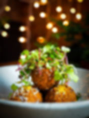 artichoke and pecorino fritters,Homestead on the Roof, Outdoor rootop restaurant in Chicago, farm to table restauant with a view