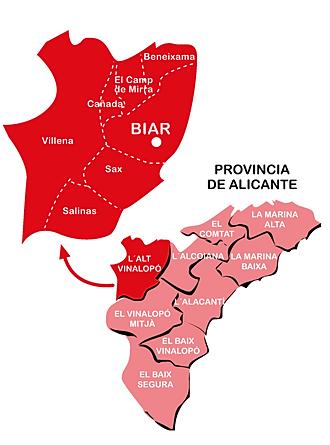 mapa alt vinalopo