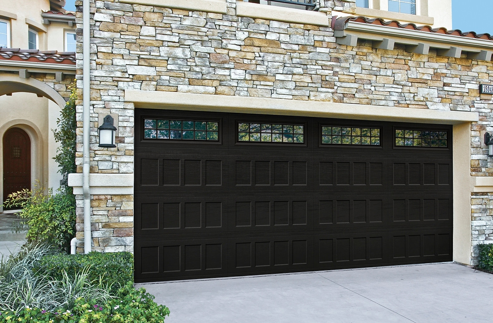 dark brown garage doors garage design  Relationships Black Garage Doors Stock Photo