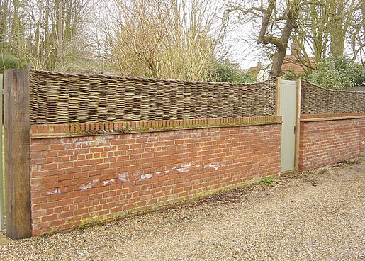 Hand Crafted Willow Fencing