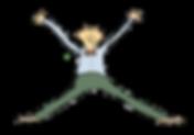 Cartoon guy waving his arms